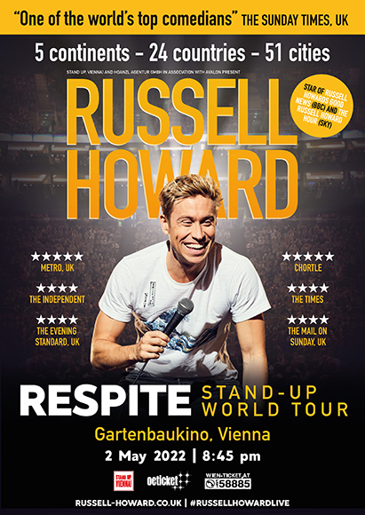 <h2>Russell Howard <br /> 2 May '22</h2>